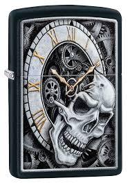 <b>зажигалка Zippo</b> 29854 <b>Skull Clock</b> Design купить в магазине ...
