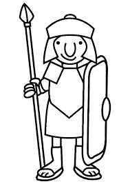Coloring Page Roman Soldier Armor Of God Roman Soldiers