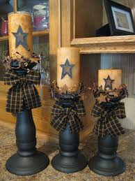 Primitive Decorating May Have To Hit The Junk Stores For Some Old Candle Holders To