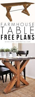 This easy to build Farmhouse Table is the perfect addition to any dining or  breakfast room