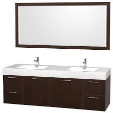 60 Inch Single Sink Vanity Cabinet Collection Centra White 48 In Vessel Single Sink Oak Bathroom