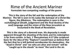 teaching the rime of the ancient mariner for aqa a level crime  readings of rime of the ancient mariner pptx