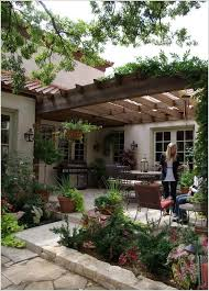Designer Backyards New Stone Patio And Pergola Patio Designs And Ideas Pinterest
