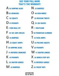 alphabet workout challenge pining this for later softball workouts cheer workouts easy