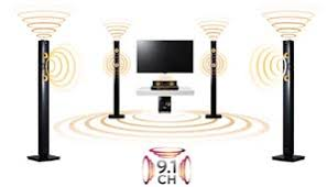 lg home theater. 9.1 channel immersive sound lg home theater