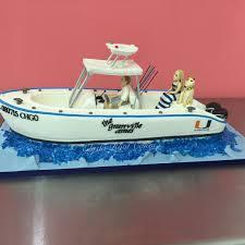 Custom Cake Spotlight Fishing Boat Grooms Cake And Hanging Wedding