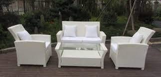resin white rattan outdoor sofa sets