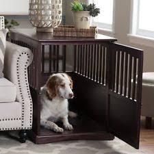 wooden dog crate furniture. Indoor Dog Crate Wooden End Table Kennel Pet Cage Animal Pen Espresso Furniture 3