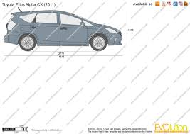 The-Blueprints.com - Vector Drawing - Toyota Prius Alpha CX