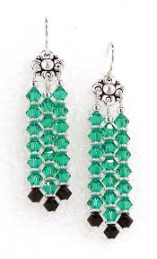 03 04 4350 annette s lt emerald crystal chandelier earrings