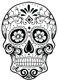 Sugar Skull Coloring Page Printable Skull Coloring Pages Sugar