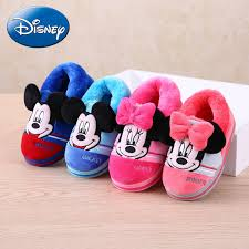 <b>Disney</b> Cartoon Cotton Indoor Slippers <b>Minnie</b> Warm Home Shoes ...