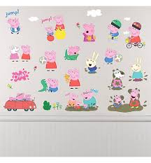 peppa pig wall decals 28ct on peppa pig wall art stickers with george peppa pig wall decals 8ct party city