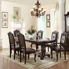 kiera 7 pc dining table and chair by crown mark concept of clic dining chairs kiera
