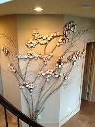 Three sided wall art - tree art, twig art for wall decor, wall art