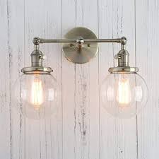 Double Sconce Bathroom Lighting Enchanting Permo Double Sconce Vintage Industrial Antique 48lights Wall Sconces