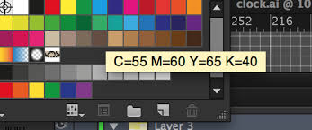 Adobe Cmyk Color Chart Color Panel In Cmyk Instead Of Rgb Graphic Design Stack