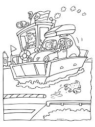 Kleurplaat Auto Op De Veerboot Kleurplatennl
