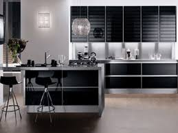 Perfect Modern Kitchen Black And White with Modern Kitchen Cabinets