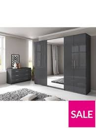 Captivating Prague Gloss 6 Door Mirrored Wardrobe Bedroom Furniture With A Reflective  Side, This Large Wardrobe