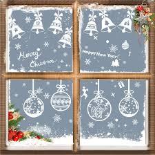Yvonnesly Fensterbilder Winter Schneeflocken Fenster Aufkleber Weihnachts Fensterdeko Weihnachtsdeko Fenstersticker Wandabziehbilder Dekoration Im