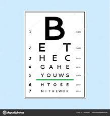 Eyes Test Chart Stock Vector Olhayerofieieva 179166744
