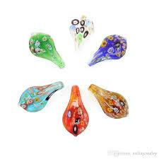 whole box glass lampwork art pendants make by hand millefiori teardrop necklace pendants new design mc0028 opal pendant necklace locket pendant