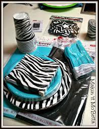 At 40 Party Decorations Zebra Print Party Supplies Party Favors Ideas