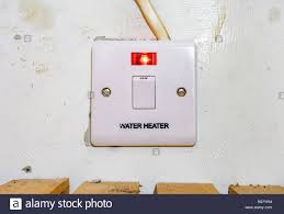 Red Light Switch Water Heater Switch With Red Light On Indicating That It Is