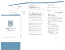 Templates For Church Programs Church Event Program Template