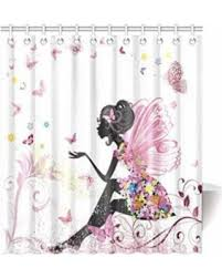 modern fabric shower curtain. MYPOP Pink Butterfly Girl With Floral Dress Flower Design Fairy Angel Wings Fae Home Accent Soft Modern Fabric Shower Curtain