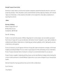 Project Proposal Cover Letter Response Cover Letter Template Sales