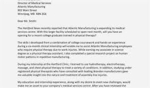 Cover Letter Physical Therapy Simple Free Sample Cover Letter For