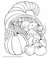Small Picture Thanksgiving Coloring Pages Cornucopia Vegetables Horn of