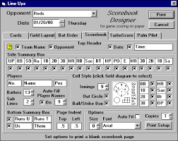 Baseball Score Book Pages Baseball Stats Software For Windows Baseball Stat Software