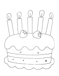 Disegni Da Colorare Categoria Compleanno Immagine Torta