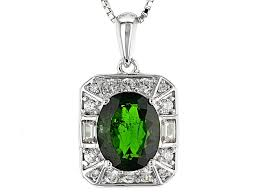 green chrome diopside sterling silver pendant with chain 2 68ctw rnh633 jtv com