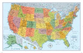 series maps rand mcnally signature series usa wall map maps com