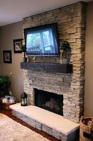 hang a brick wall without corner fireplace with tv above fireplaces sitting on mantle how to