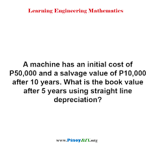 Straight Line Depreciation Salvage Value Solution What Is The Book Value After 5 Years Using