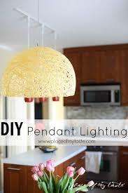 diy pendant lighting. Diy Pendant Light With Super Bright Led Bulb \u2013 Place Of My Taste Throughout Yarn Lighting N