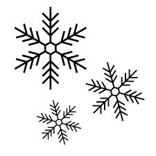 雪の結晶の白黒イラスト02 無料 イラストk