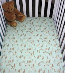fitted crib sheet mint and bronze trees sheets fullxfull baby bedding cot turquoise simple orange mini
