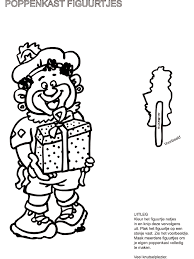 Zwarte Piet Poppenkastfiguurtjes Knutselpaginanl Knutselen