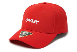 Oakley Hat 6 Panel Stretch Metallic Hat Red