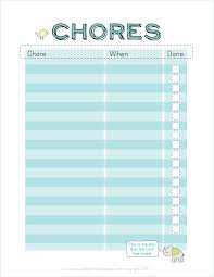 Somewhat Simple Chore Chart Free Printable Chore Charts For Kids Fab N Free