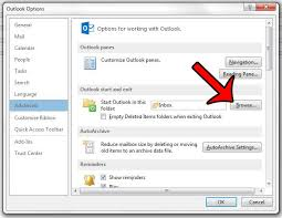 How To Change The Default Startup Folder In Outlook 2013 Solve