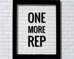 ONE MORE REP - Floating Quote - Workout Gym Decor Exercise Weightlifting  Training Motivation Working Out