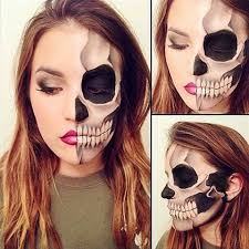 skeleton face painting makeup 2016