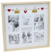 clothes line wooden box style display with pegs multi collage photo frame best friends